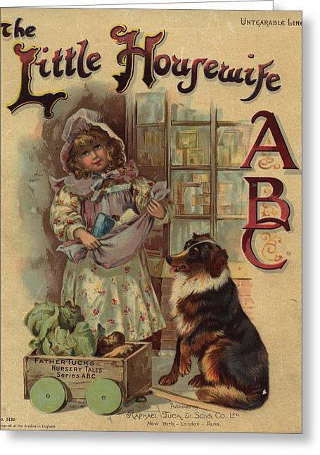 The Little Housewife Abc Greeting Card by Reynold Jay