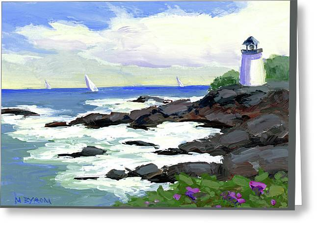 The Little Light House Greeting Card by Mary Byrom