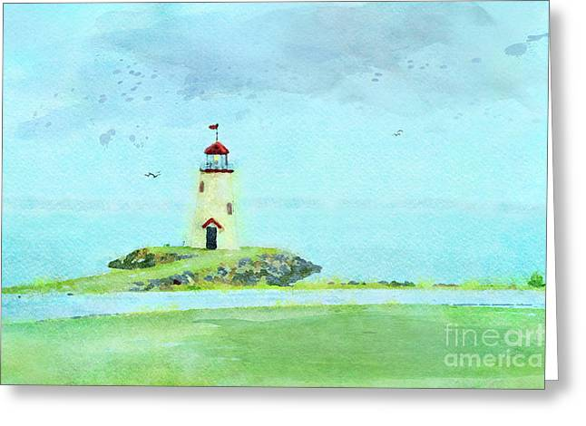 The Little Lighthouse That Could Greeting Card