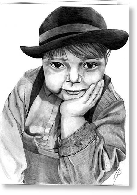 The Little Man Greeting Card by Jose Torres
