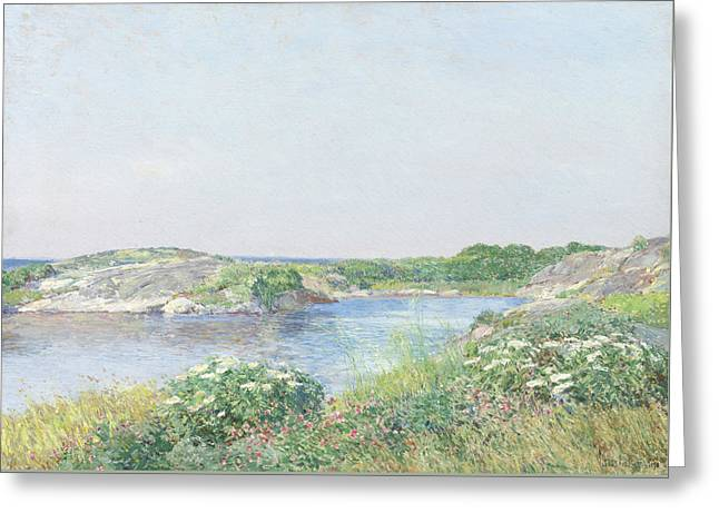 The Little Pond, Appledore Greeting Card by Childe Hassam