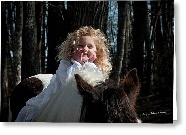 The Little Princess Greeting Card by Terry Kirkland Cook