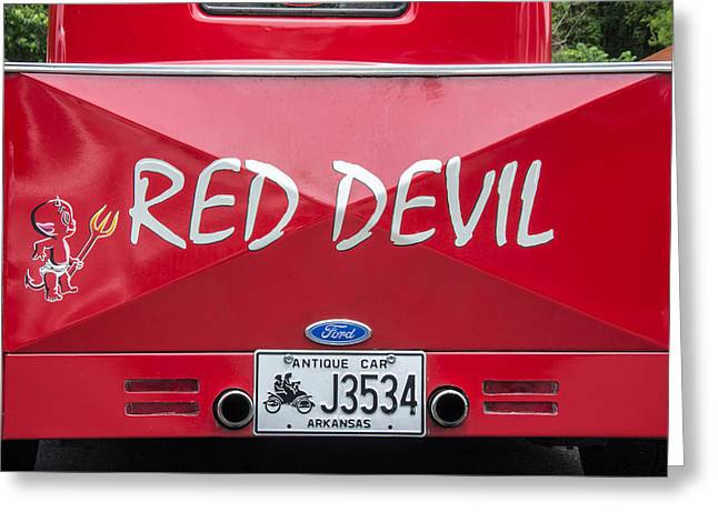 The Little Red Devil Greeting Card by Robert Kinser