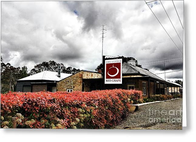 Greeting Card featuring the photograph The Little Red Grape Winery   by Douglas Barnard