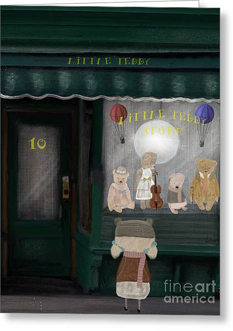 The Little Teddy Store Greeting Card