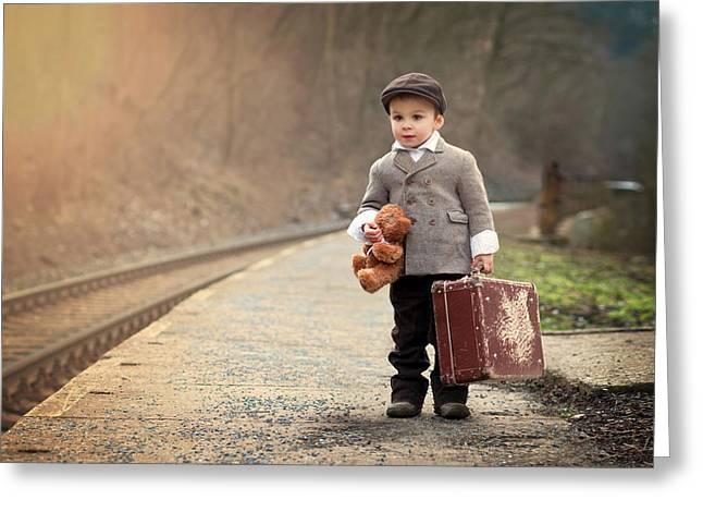 The Little Traveler Greeting Card