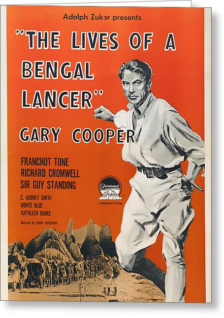 The Lives Of A Bengal Lancer 1935 Greeting Card by Mountain Dreams