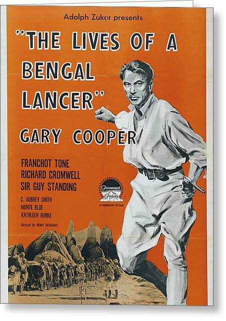 The Lives Of A Bengal Lancer 1935 Greeting Card by Paramount