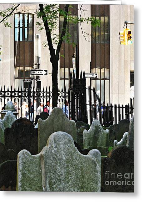 The Living And The Dead Greeting Card