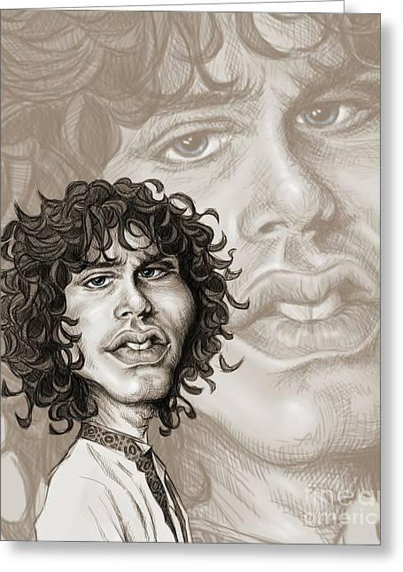 The Lizard King - Jim Morrison Greeting Card