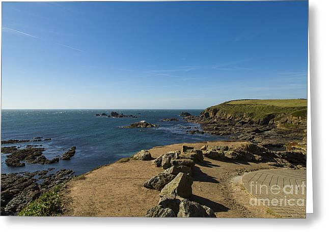 Greeting Card featuring the photograph The Lizard Point by Brian Roscorla