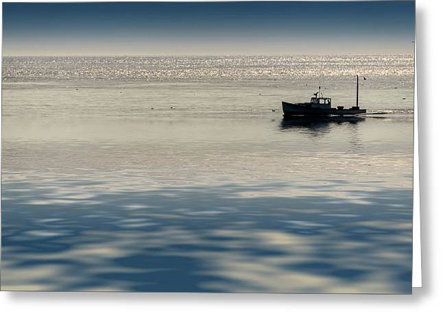 The Lobster Boat Greeting Card by Rick Berk