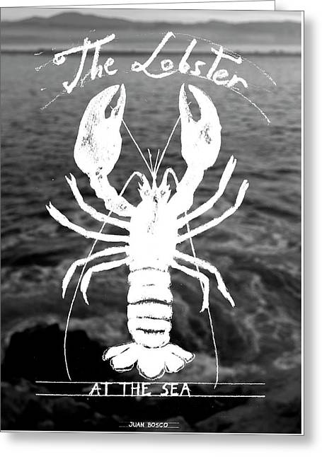 The Lobster Greeting Card by Juan Bosco