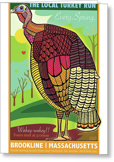 The Local Turkey Run Greeting Card