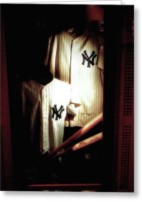 The Locker  Mickey Mantle's And Joe Dimaggio's Locker Greeting Card