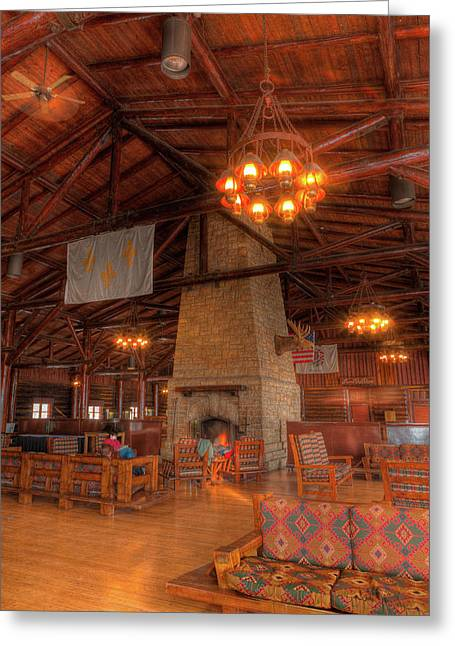 Starved Rock Park Greeting Cards - The Lodge At Starved Rock State Park Illinois Greeting Card by Steve Gadomski