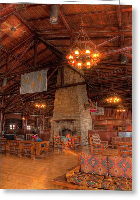 The Lodge At Starved Rock State Park Illinois Greeting Card by Steve Gadomski