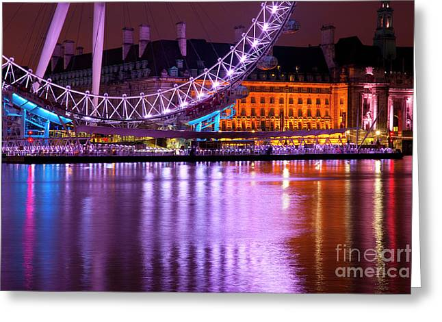 The London Eye Greeting Card by Donald Davis