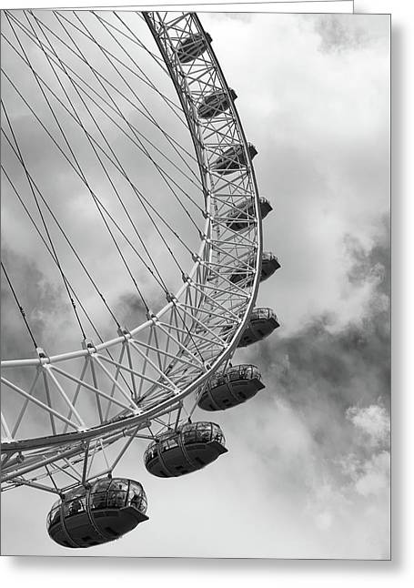 The London Eye, London, England Greeting Card by Richard Goodrich