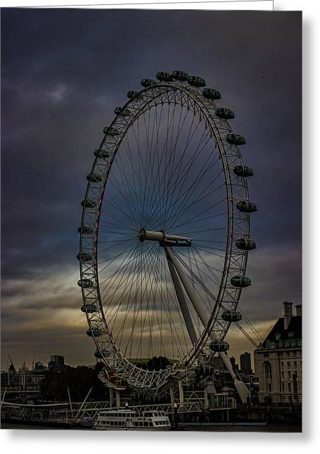 The London Eye Greeting Card by Martin Newman