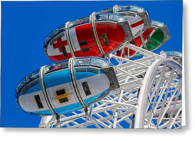 The London Eye Rugby World  Greeting Card