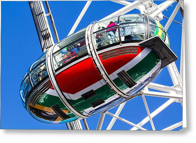 The London Eye South African Flag Greeting Card