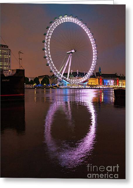 The London Eye Greeting Card by Nichola Denny