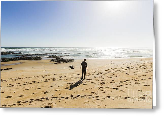 The Lone Explorer  Greeting Card by Jorgo Photography - Wall Art Gallery