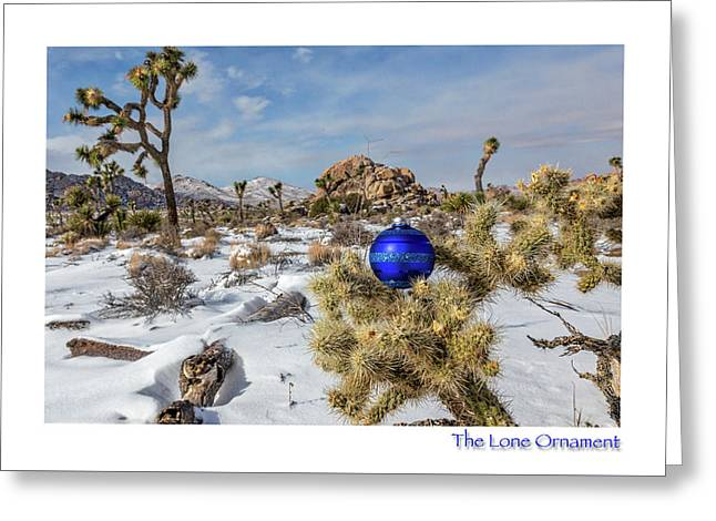 Greeting Card featuring the photograph The Lone Ornament #9 by Peter Tellone