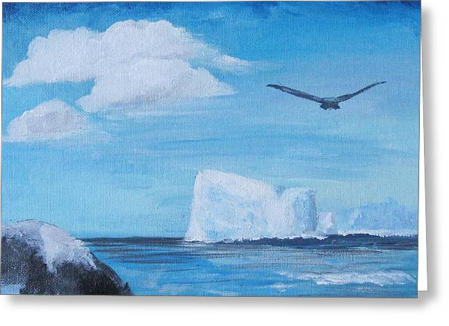 Greeting Card featuring the painting The Lone Rider by Trilby Cole