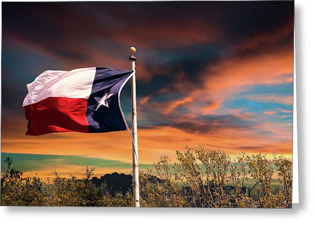 The Lone Star Flag Greeting Card