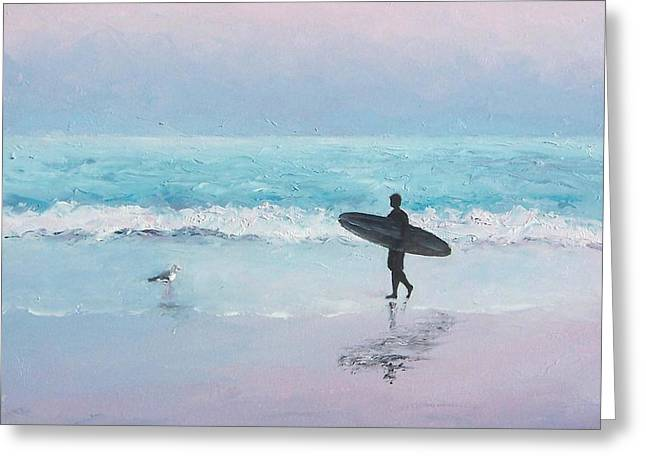 The Lone Surfer 2 Greeting Card by Jan Matson
