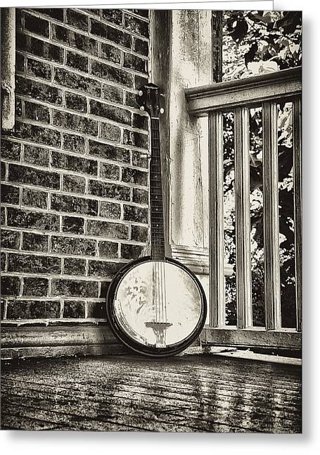 The Lonely Banjo Greeting Card by Bill Cannon