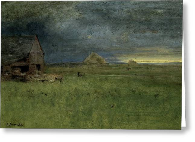The Lonely Farm Greeting Card by George Inness