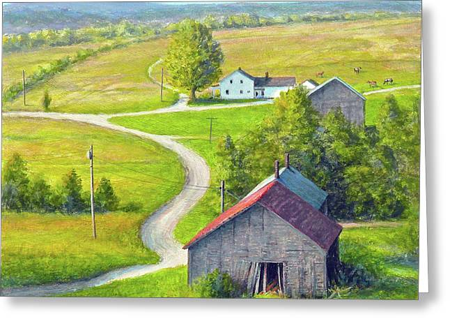 The Long And Winding Road Greeting Card by Paul Breeden