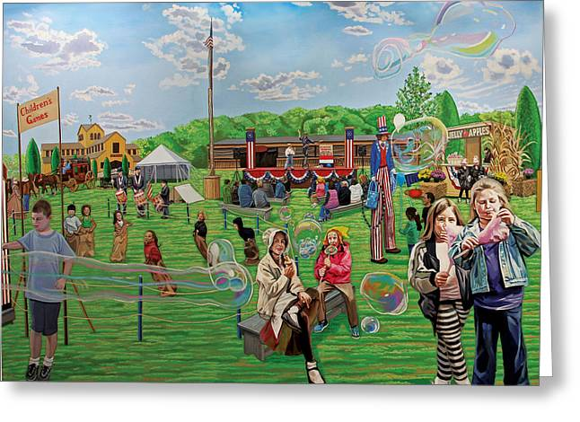 The Long Island Fair At Old Bethpage Restoration Greeting Card