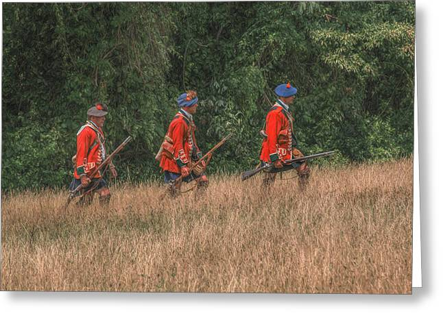 The Long March To Fort Pitt  Greeting Card by Randy Steele