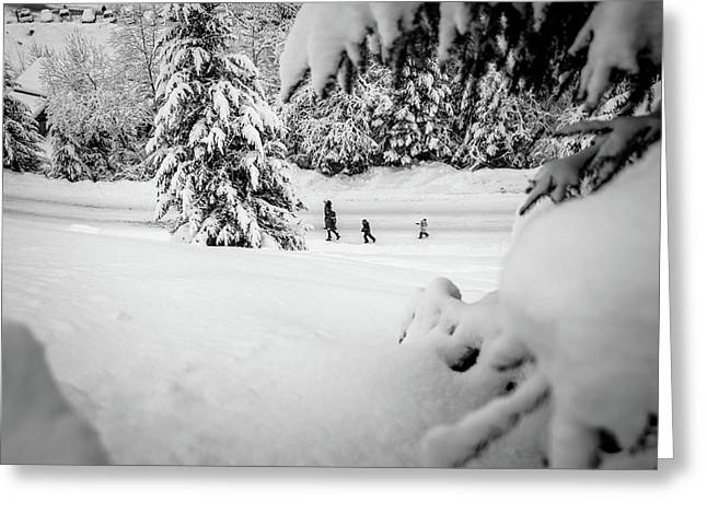 Greeting Card featuring the photograph The Long Walk- by JD Mims