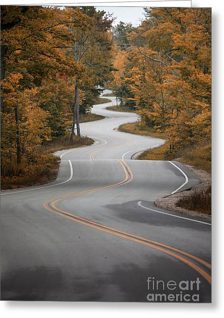 The Long Winding Road Greeting Card