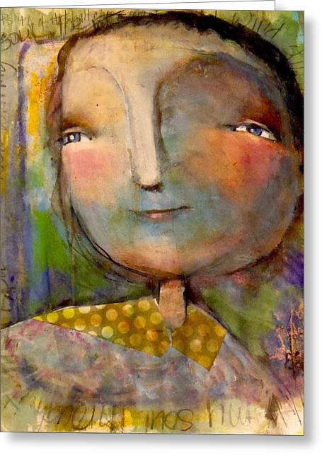 Greeting Card featuring the drawing The Look Of Hope by Eleatta Diver