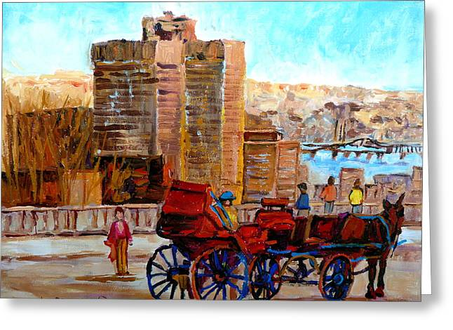 The Lookout On Mount Royal Montreal Greeting Card by Carole Spandau