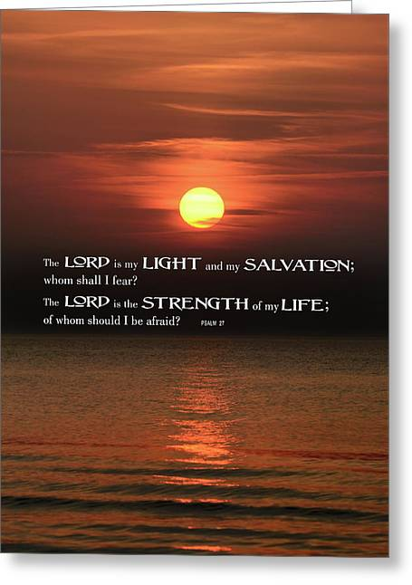 The Lord Is My Light .  .  . Greeting Card
