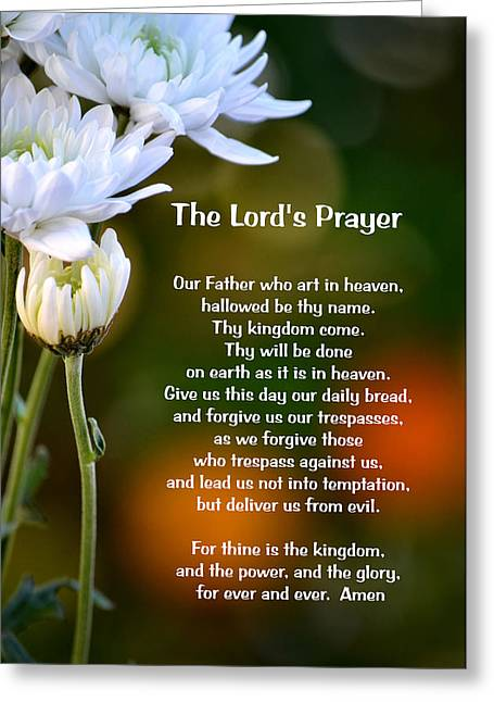 The Lord's Prayer Greeting Card by Deb Halloran