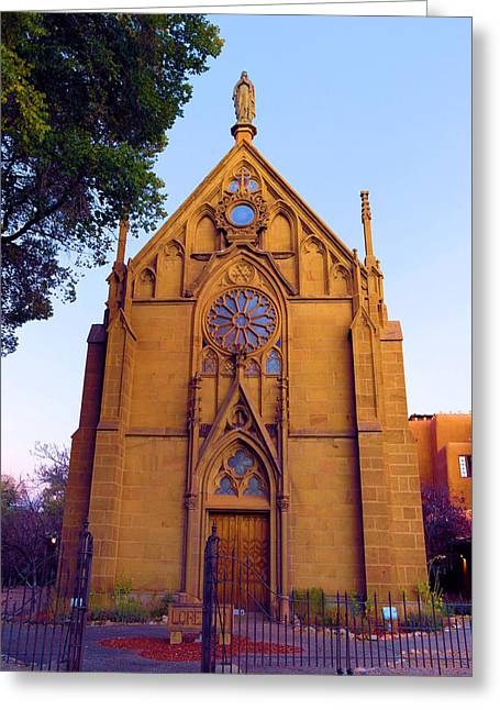 The Loretto Chapel Greeting Card by Jeff Swan