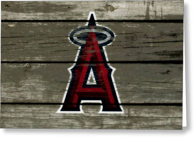 The Los Angeles Angels Of Anaheim 1a Greeting Card