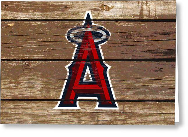 The Los Angeles Angels Of Anaheim 1c Greeting Card