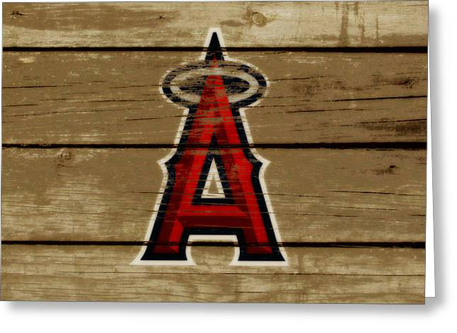 The Los Angeles Angels Of Anaheim Greeting Card