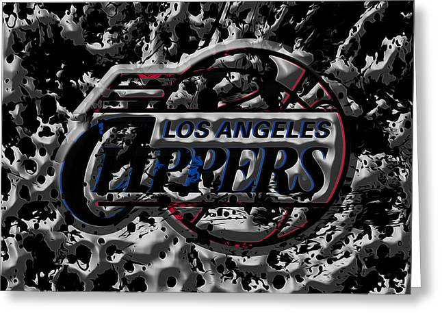 The Los Angeles Clippers 1a Greeting Card by Brian Reaves