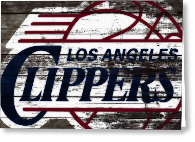 The Los Angeles Clippers 3a Greeting Card by Brian Reaves