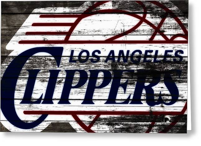 The Los Angeles Clippers 3b Greeting Card by Brian Reaves